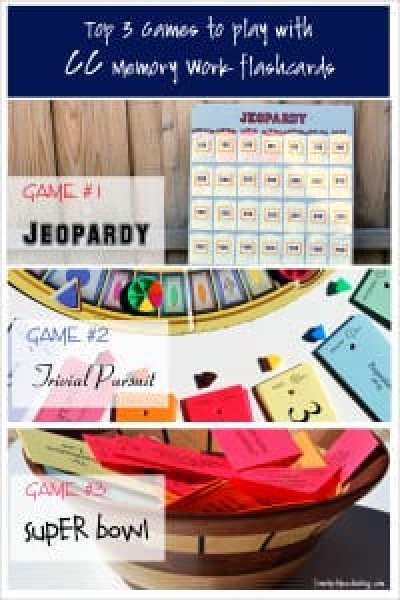 Top 3 games to play with CC Memory Work Flashcards