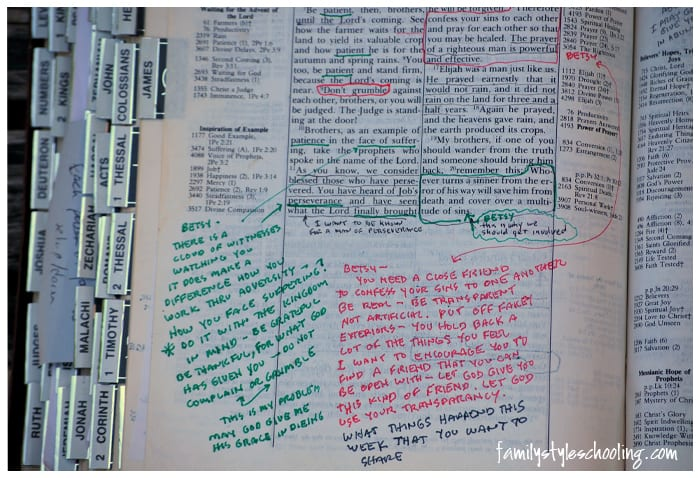 writing in your bible father