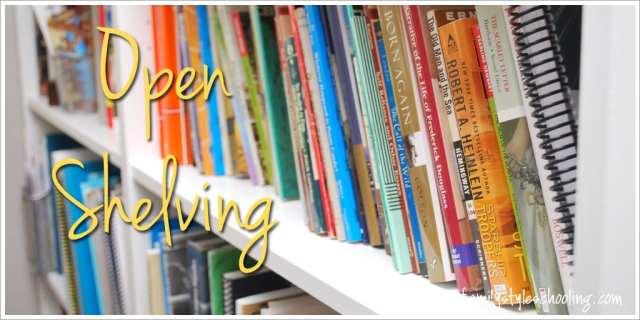 Schoolroom storage must haves Open shelving
