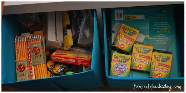 school room storage must haves school supplies