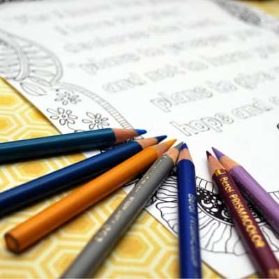 Scripture Meditation: Free Adult Coloring Printable