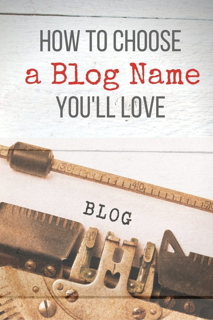 choose a blog name