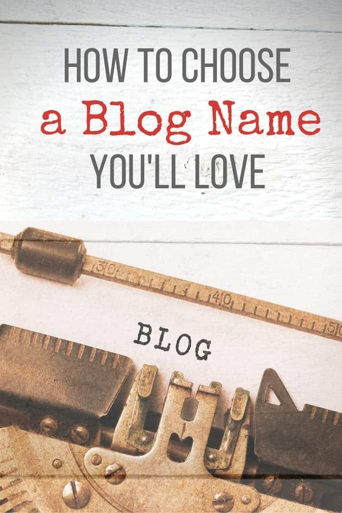 choose a blog name