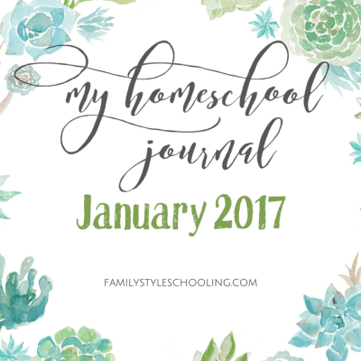 January 2017 Homeschool Mother's Journal