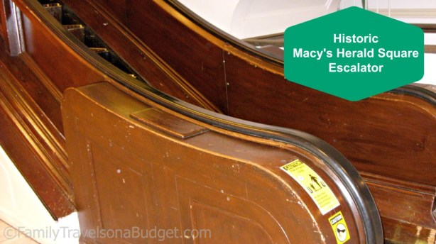 New York City on a Budget: Ride the historic escalator at Macy's Herald Square