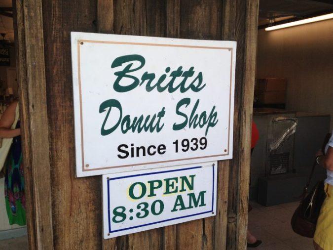 Britts Donuts at Carolina Beach, a summer tradition