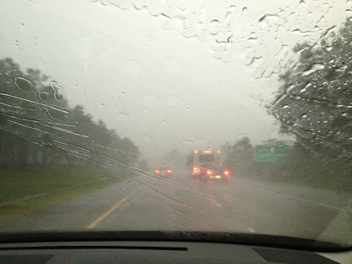 Road Trip Safety: cars, trucks and rain. Oh my!