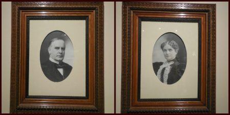 Portraits of Mr. and Mrs. McKinley.