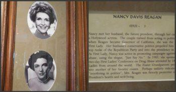 Nancy Reagan's shrine