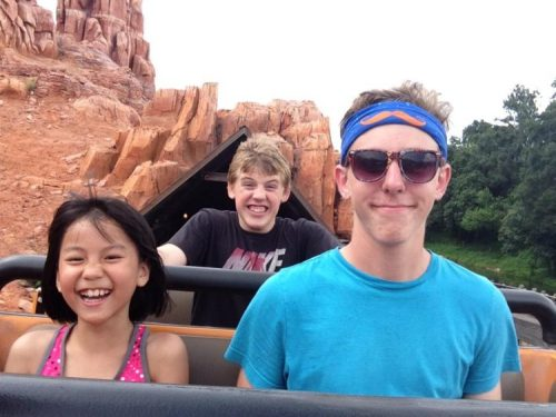 Big Thunder Mountain Railroad with these three. Always a blast!