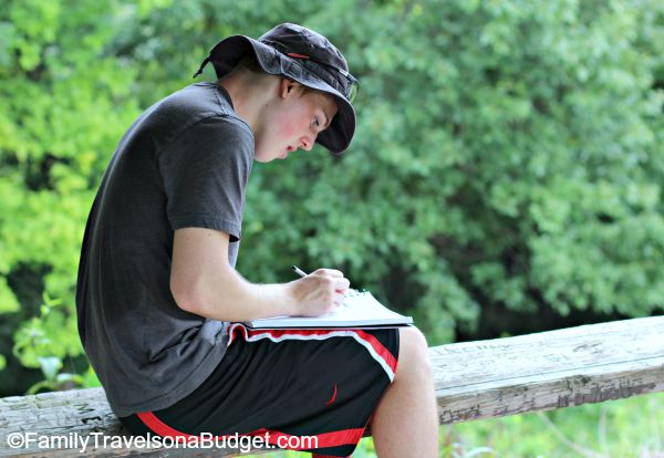 sketching at pere marquette
