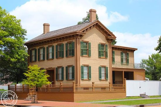 Lincoln's home in Springfield, great summer vacation stop