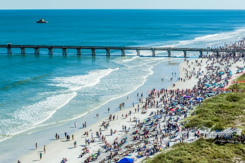 Jacksonville beaches are wide, warm and popular! Whether coming to watch the Blue Angels or just play in the surf, a couple days here are worth the visit.