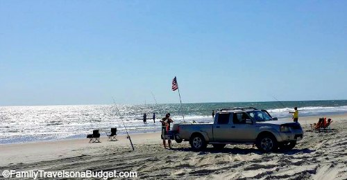 4x4 on the sand at the Outer Banks