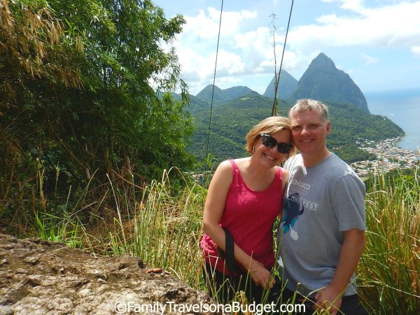 St. Lucia's Pitons from the mountainside