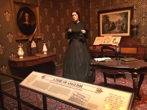 In the Civil War Exhibit -- the effect of war on the family.