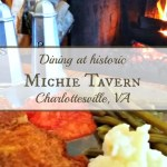 Dining at historic Michie Tavern in Charlottesville, VA