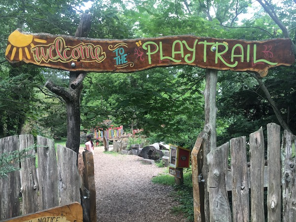 Boxerwood Gardens Play Trail in Lexington, VA -- a hit for kids big and small