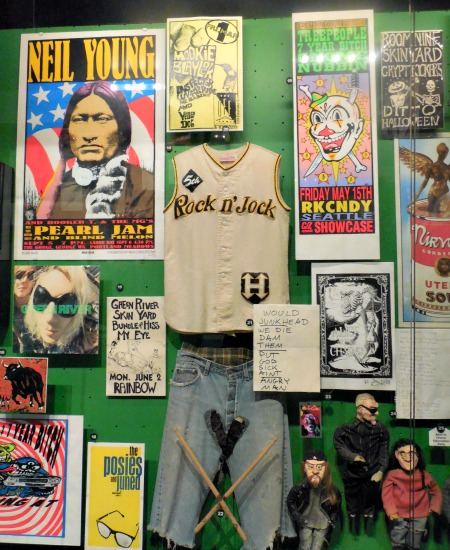 Rock and roll memorabilia at the Rock and Roll Hall of Fame