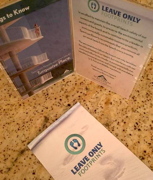 Alabama hotels and resorts provide Leave Only Footprints information to guests