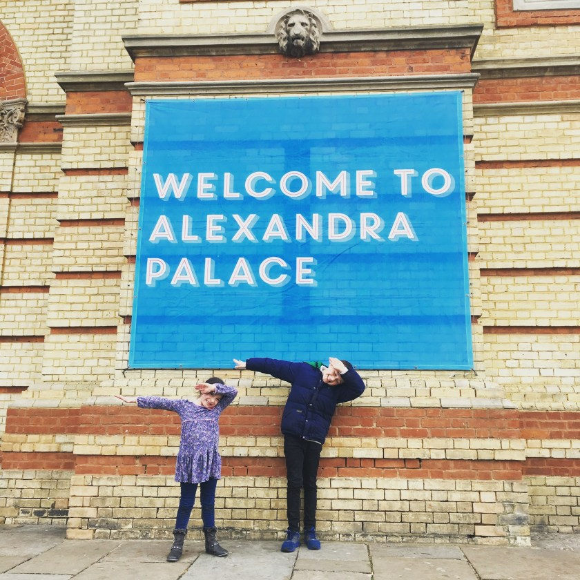 Doing the Dab outside Ally Pally