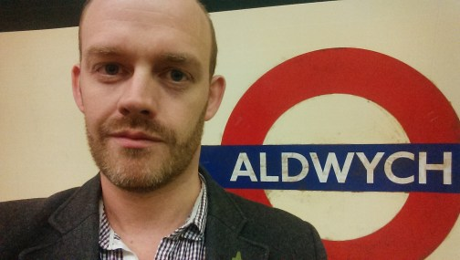 Me in obligatory Aldwych underground sign photo