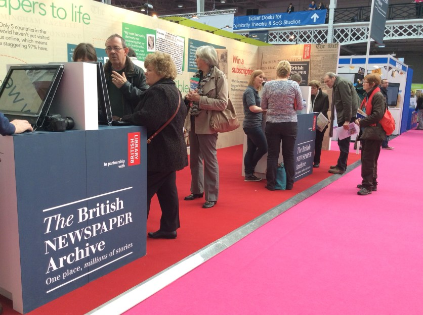 The British Newspaper Archive at Who Do You Think You Are? Live 2014