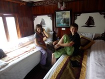 We liked the cabins on the boat.