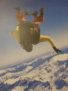 Angela Sky diving