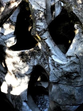 Spooky rock ghost.