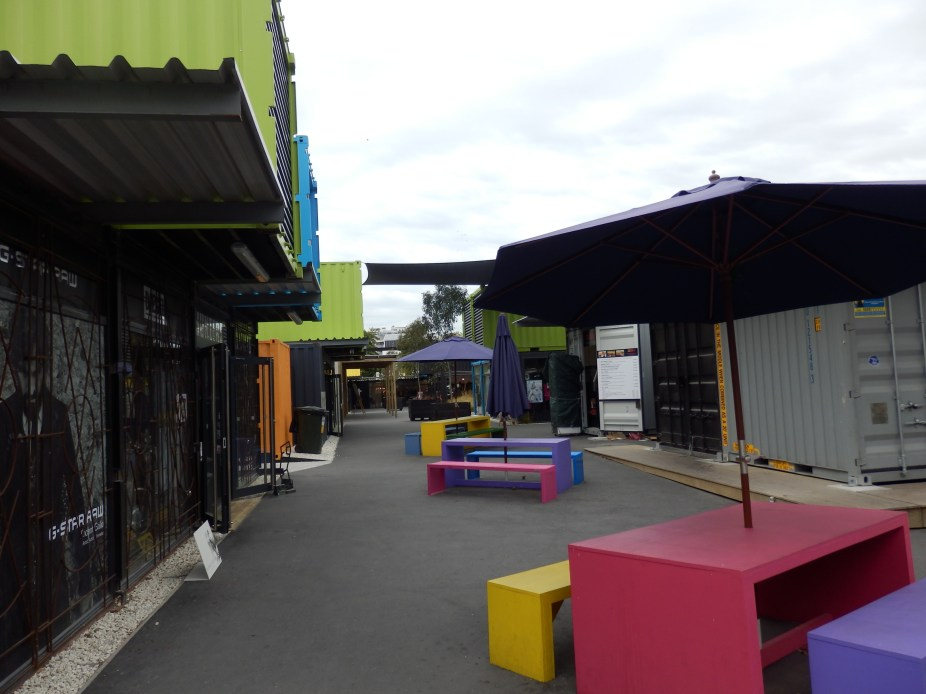 Restart mall, all made from shipping containers.