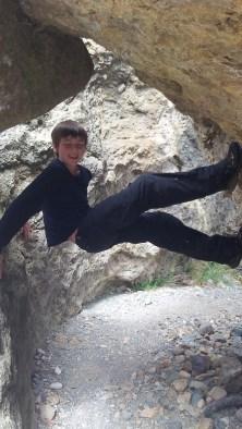 Climbing at the rock pools