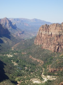Looking down into Zion