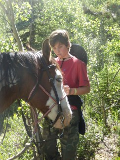 Jacob started to horse whisper