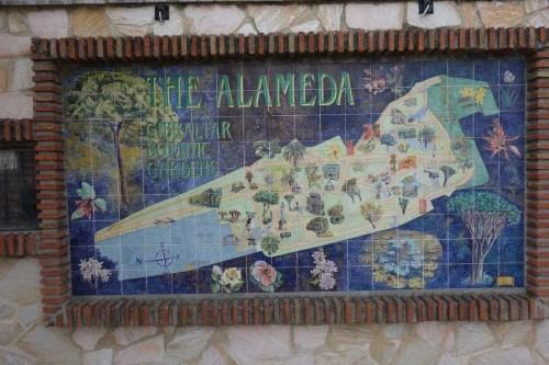 Mappa giardini Alameda