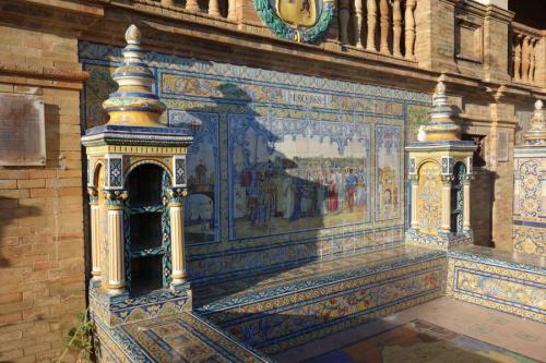 Panchina in ceramica a plaza de Espana