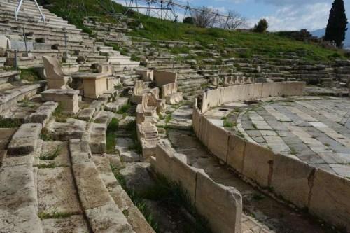 Sedili del teatro di Dioniso acropoli