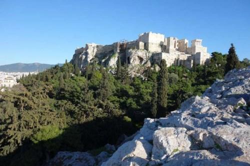 Areopago vista sull'acropoli
