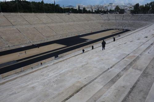 Vista sullo stadio Panathinaiko