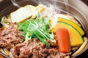 ガストの京都産九条ねぎと寄せ豆腐の牛すき鍋