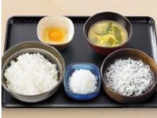 吉野家朝食2018年「しらすおろし定食」