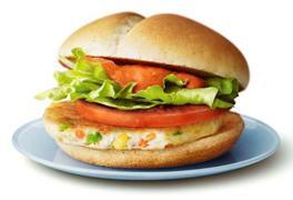 マクドナルドベジタブルチキンバーガー