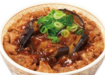 すき家のマーボナス牛丼
