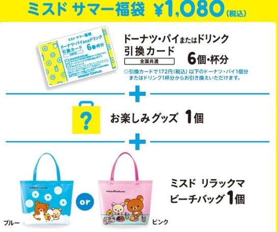 ミスド サマー福袋1080円