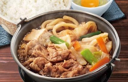 すき家、牛すき鍋定食