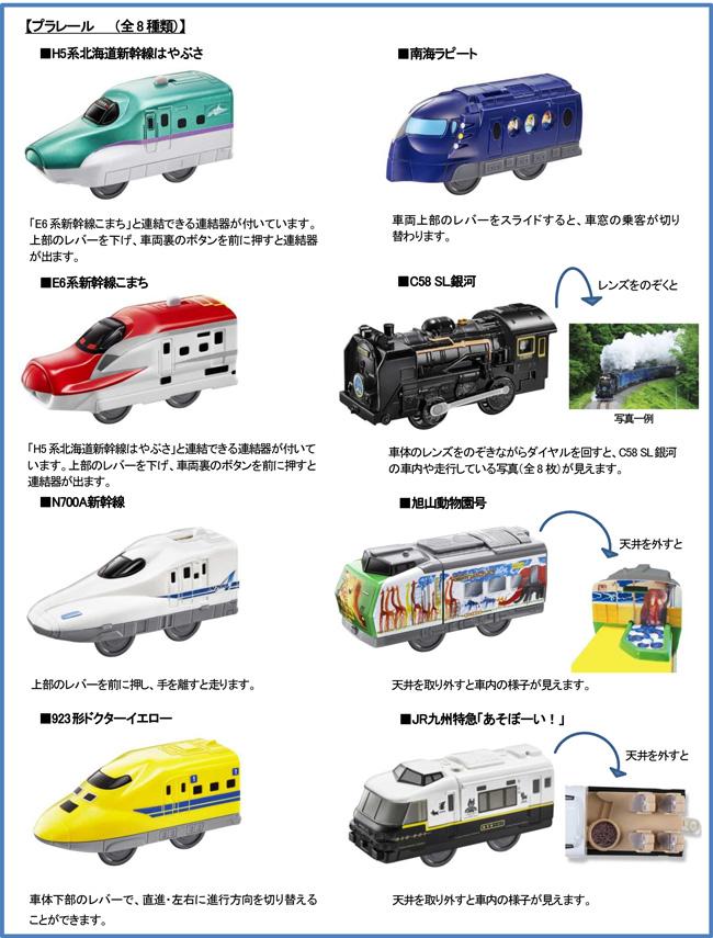 ハッピーセット、プラレール8種類おもちゃ2016年10月14日