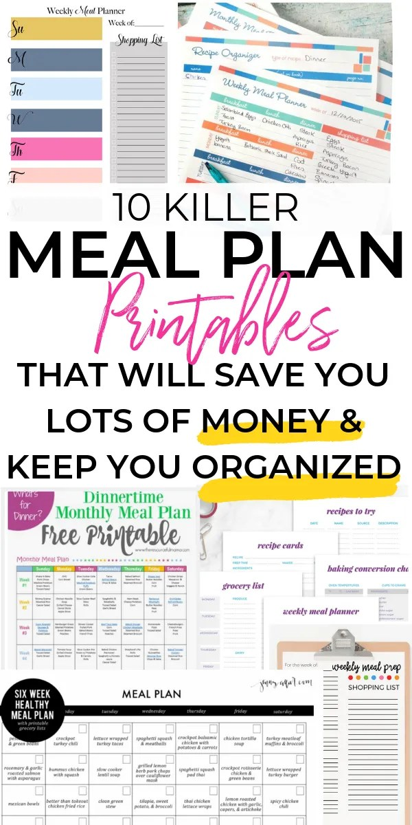 The best meal planning templates you will find to help you save money and time. As busy parent we have tons on our plate and making healthy meals for our kids should be easy and effortless.