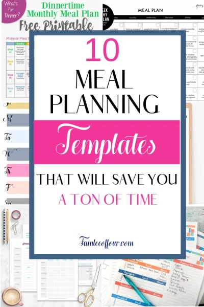 Trying to find the perfect meal planning printable to organize meals can be difficult. But I have went through tons of meal plan templates to find the most useful printable. Are you ready to start cooking healthy meals for your family and stop feeling unprepared in the kitchen? Organization| Printable| meal plan on a budget, meal plan printable, meal plan template,