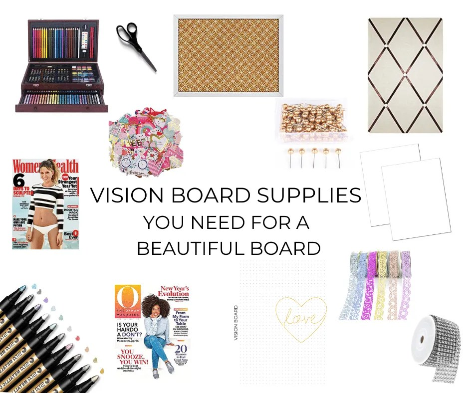 vision board supplies list
