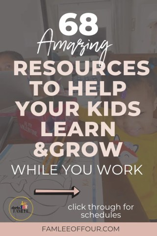 Your kids are home but you want to make sure they are still learning and following a routine. We know kids on a schedule makes the day flow so much easier. Find resources to keep your kids busy and learning . Homeschooling, working from home with kids, resources for kids, when kids are board, things to do